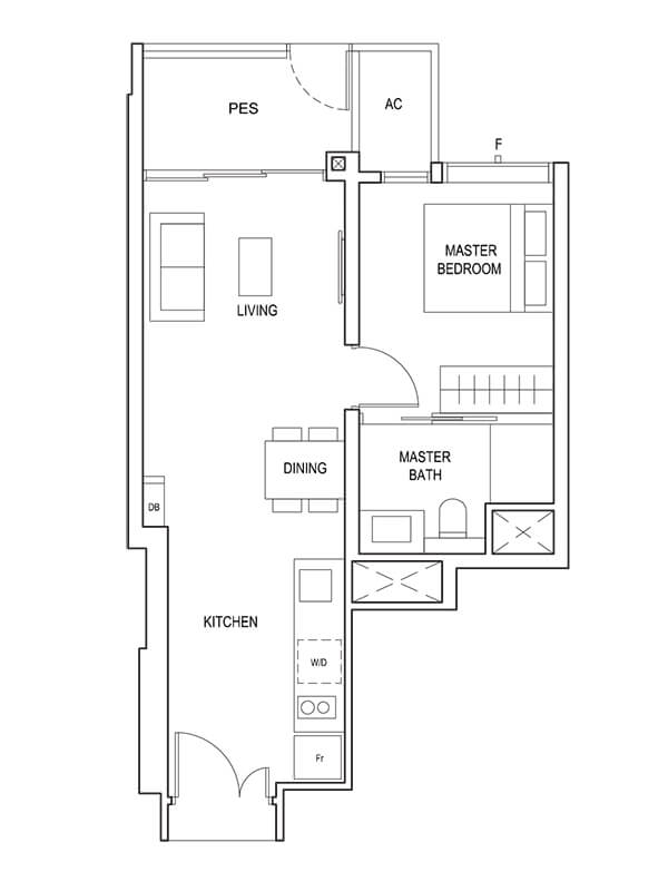 1 Bedroom Type (1)c1 517 sqft